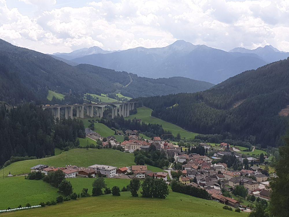 Blick auf Gossensaß,Südtirol