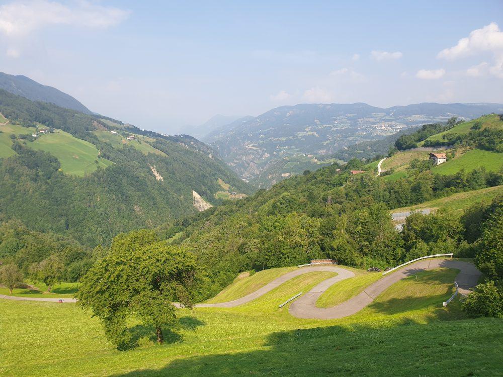 Dolomiten,  Blick ins Tal beiBreien