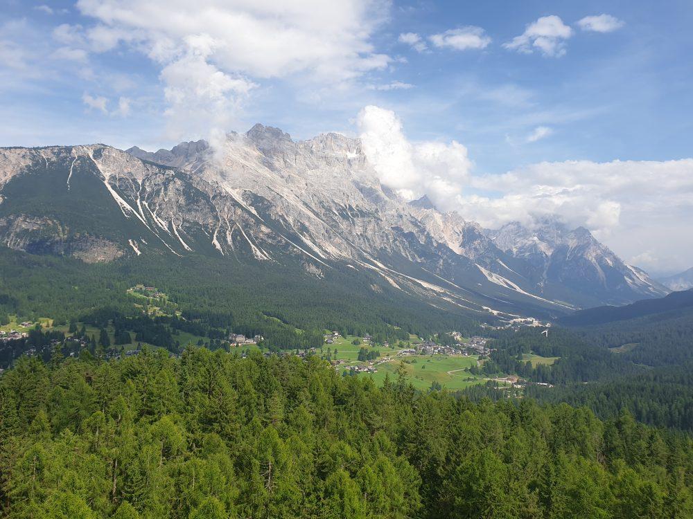 Abfahrt nach Cortina d'Ampezzo